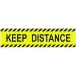 """Επιγραφή ατοκόλλητη Next """"KEEP DISTANCE""""  8x32εκ  05998"""