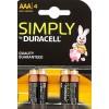 Μπαταρίες Duracell ΑΑ simply power 4τεμ.