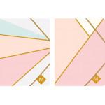 Φάκελος  με λάστιχο Α4 P.P pastel gold sp-74058