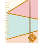 Τετράδιο Σπιράλ P.P pastel gold A4 80φύλλα με λάστιχο sp-74060