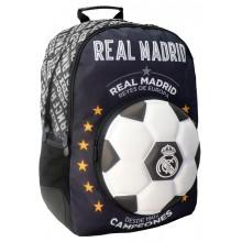 Σχολική Τσάντα Πλάτης Real Madrid με σχέδιο 3D Μπάλα 33Χ16X45, 4 Θήκες, Διακάκης (170801)
