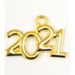 Κρεμαστό μεταλλικό 2021 χρυσό 2,2x1,7 517886